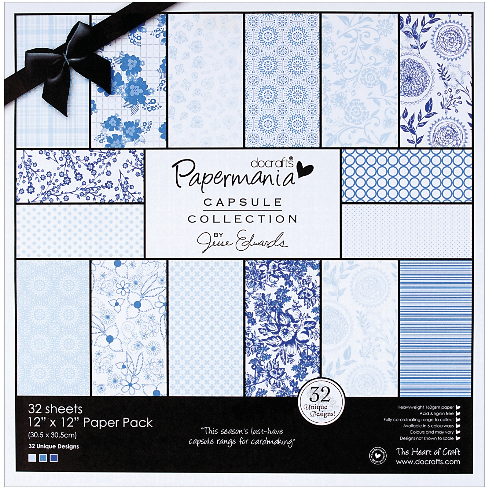 Papermania Burleigh Blue Paper Pack 12