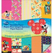 "Disney Double Sided Specialty Paper Pad 12""X12"" 24 Sheets Mickey Family at Kmart.com"