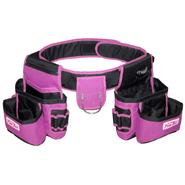 The Original Pink Box Pink Industrial Tool Belt with 2 Pouches and Hammer Holster at Craftsman.com