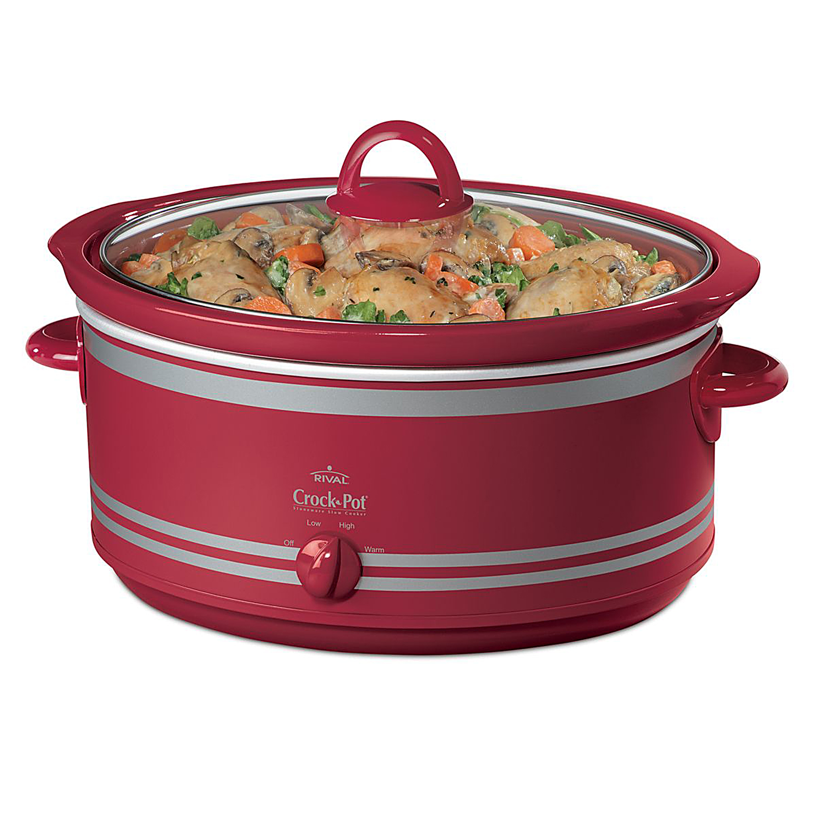 7 qt. Red Crock Pot w/Bonus Bag