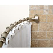 "Zenith Products Pivoting Curved 56""-72"" Shower Rod, Brushed Nickel at Kmart.com"