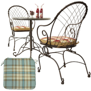 Country Living Cherry Valley Bistro Set with Replacem...