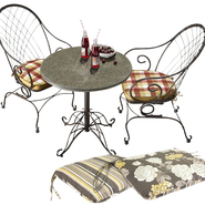 Country Living Cherry Valley Bistro Set with Replacement Cushion Bundle at Sears.com
