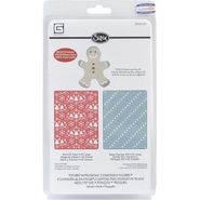 SIZZIX BY ELLISON Sizzix Textured Impressions/Bonus Sizzlits By Basic Grey Nordic Holiday Snow & Trees at Kmart.com