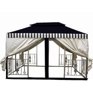 D.C.AMERICA 11.5'x11.5' Two Tier Gazebo with La Fleur Cast Iron insert - Desert Stone at Sears.com