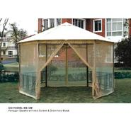 D.C.AMERICA Hexagon Gazebo with Insect Screen - Black at Sears.com