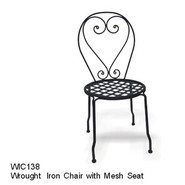 D.C.AMERICA SOHO Wrought Iron Chair w/ Mesh Seat at Sears.com