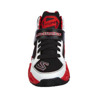 60d69ca52b1 Skechers Boy s Hoopz White Black Red Basketball Sneaker
