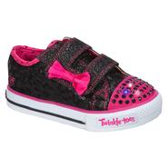 Skechers Toddler Girl's Sweet Steps Fashion Sneaker - Black/Pink at Sears.com