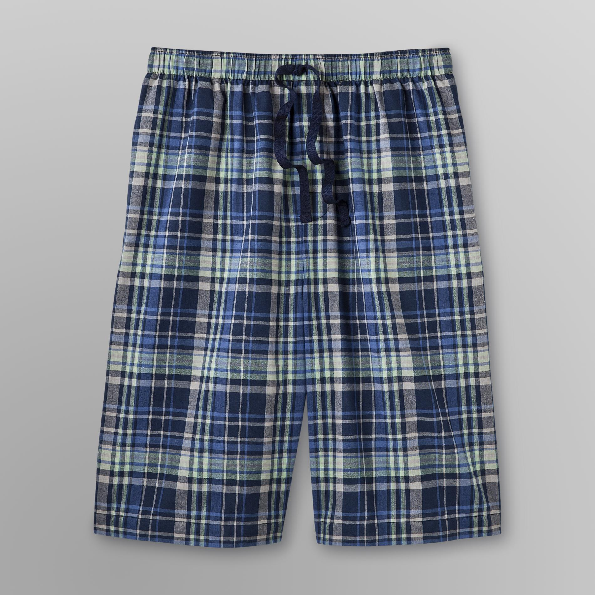 Basic Editions Men's Poplin Sleep Shorts - Plaid at Kmart.com