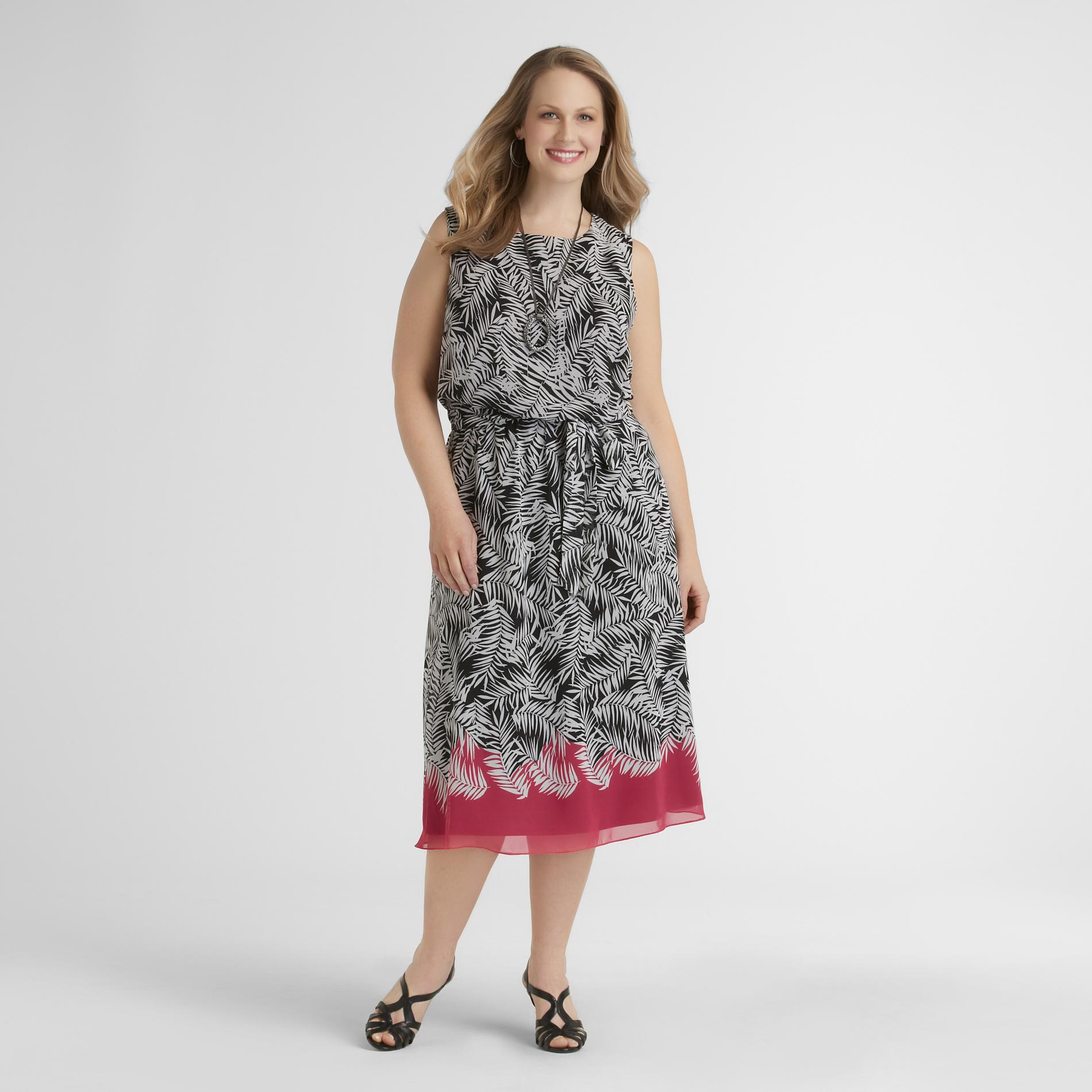 JBS Women's Plus Chiffon Dress - Palm at Sears.com