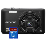 Olympus Digital Camera with SDHC Memory Card & Option...
