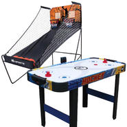 Electronic Basketball Hoop & Air Hockey Table Bundle at Sears.com