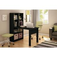 South Shore Exe Collection Work Table & Storage Unit Combo Pure Black at Sears.com