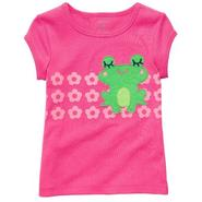 Carter's Toddler Girl's T-shirt Pink Floral with Frog at Sears.com