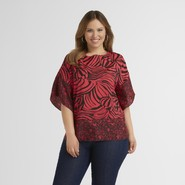 Beverly Drive Women's Plus Kimono Top - Animal Print at Sears.com