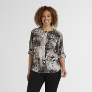 Beverly Drive Women's Plus Shirt - Animal Print at Sears.com