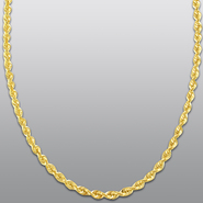 10k Yellow Gold 4.8mm 24 Inch Rope Chain at Sears.com