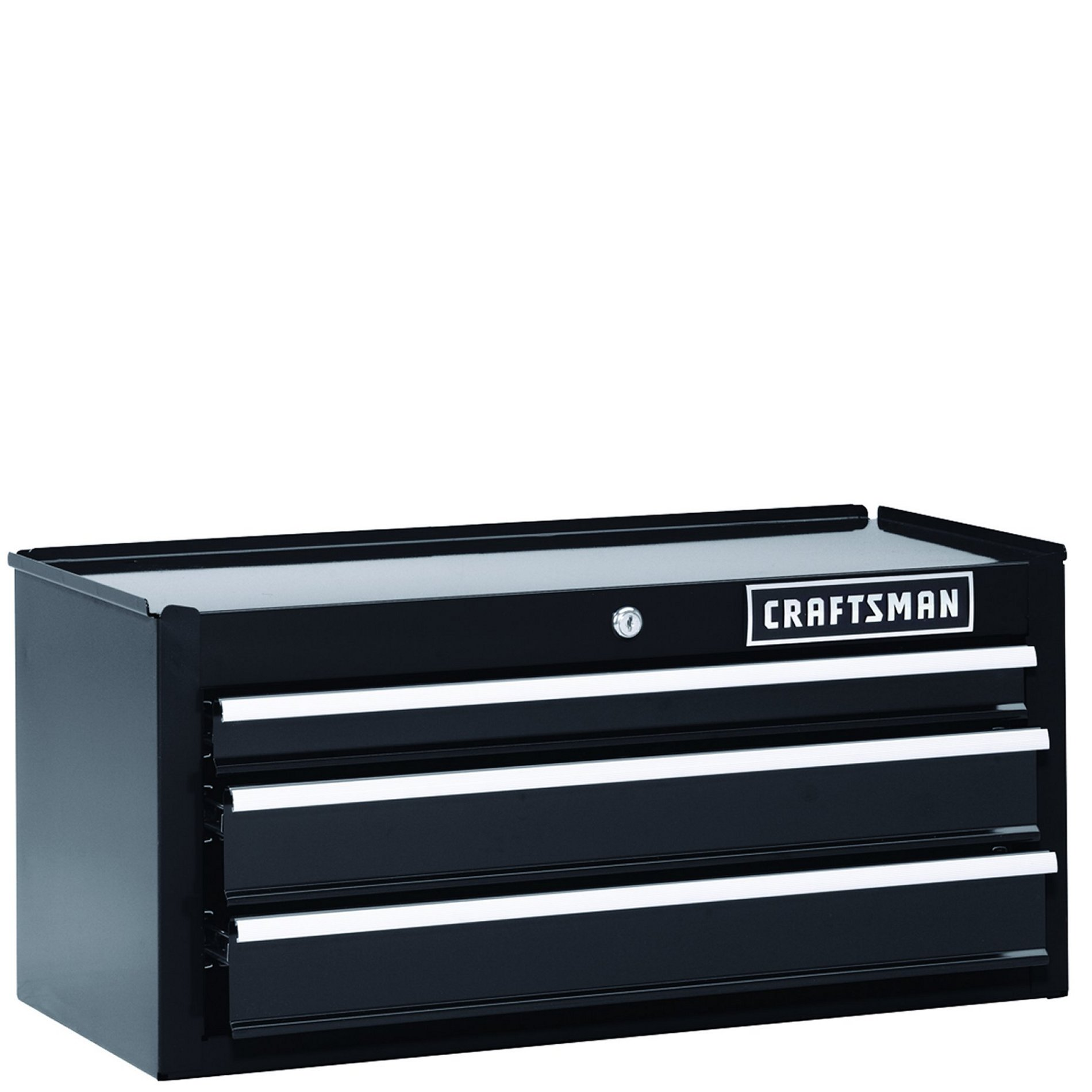 "Craftsman 26"""" 3-Drawer Heavy-Duty Middle Chest - Black"
