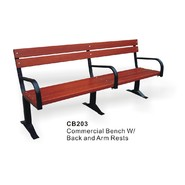 D.C.AMERICA Heavy Duty Wooden Bench with Arms at Kmart.com