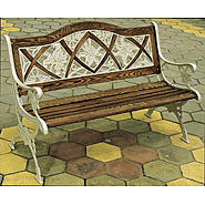 D.C.AMERICA Lily Oak Inlay Bench, Desert Stone at Sears.com