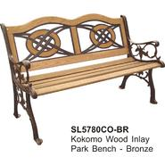 DC America Kokomo Wood Inlay Park Bench, Bronze at Sears.com