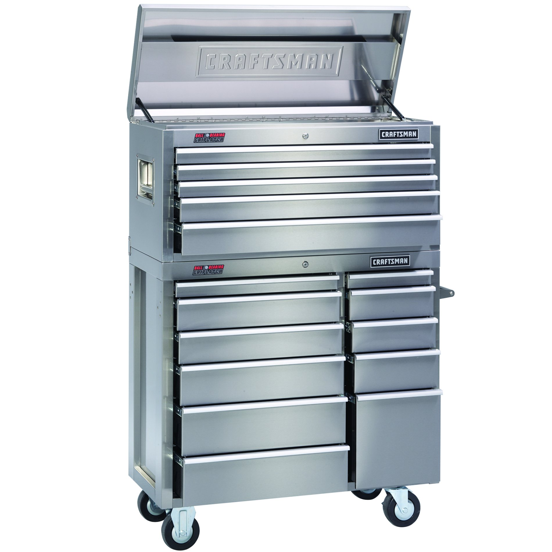 Craftsman-41 in. Storage Combo, Stainless Steel - Each Item Sold Separately