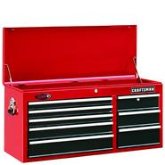 "Craftsman 40"" Wide 8-Drawer Ball-Bearing Tool Chest - Red/Black at Craftsman.com"