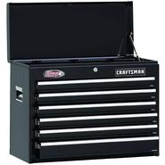 "Craftsman 26"" 6-Drawer Ball-Bearing Tool Chest - Black at Craftsman.com"