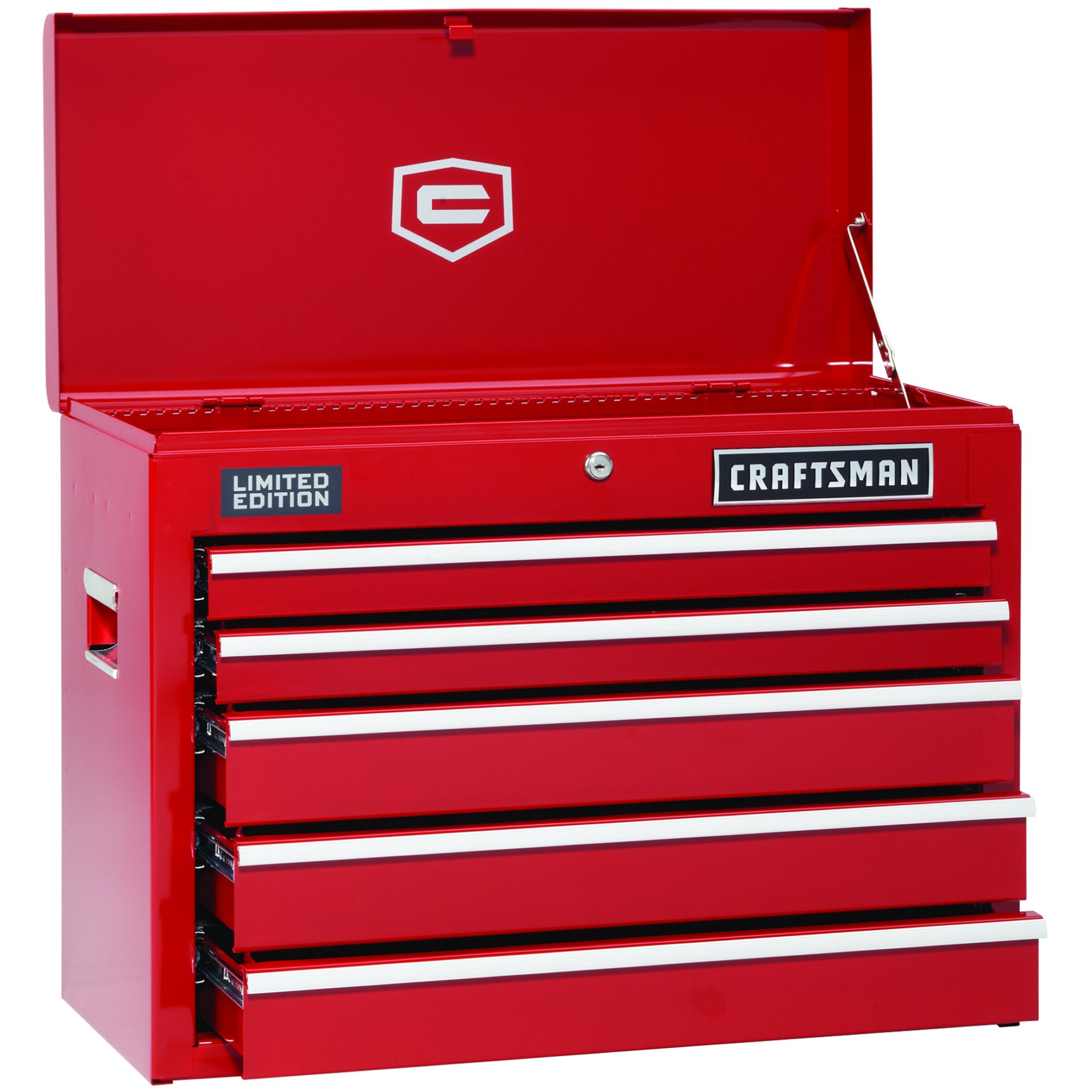 5-Drawer Red Ball-Bearing GRIPLATCH® Top