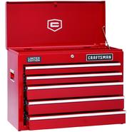 Craftsman 5-Drawer Red Ball-Bearing GRIPLATCH® Top Chest - Limited Edition at Sears.com