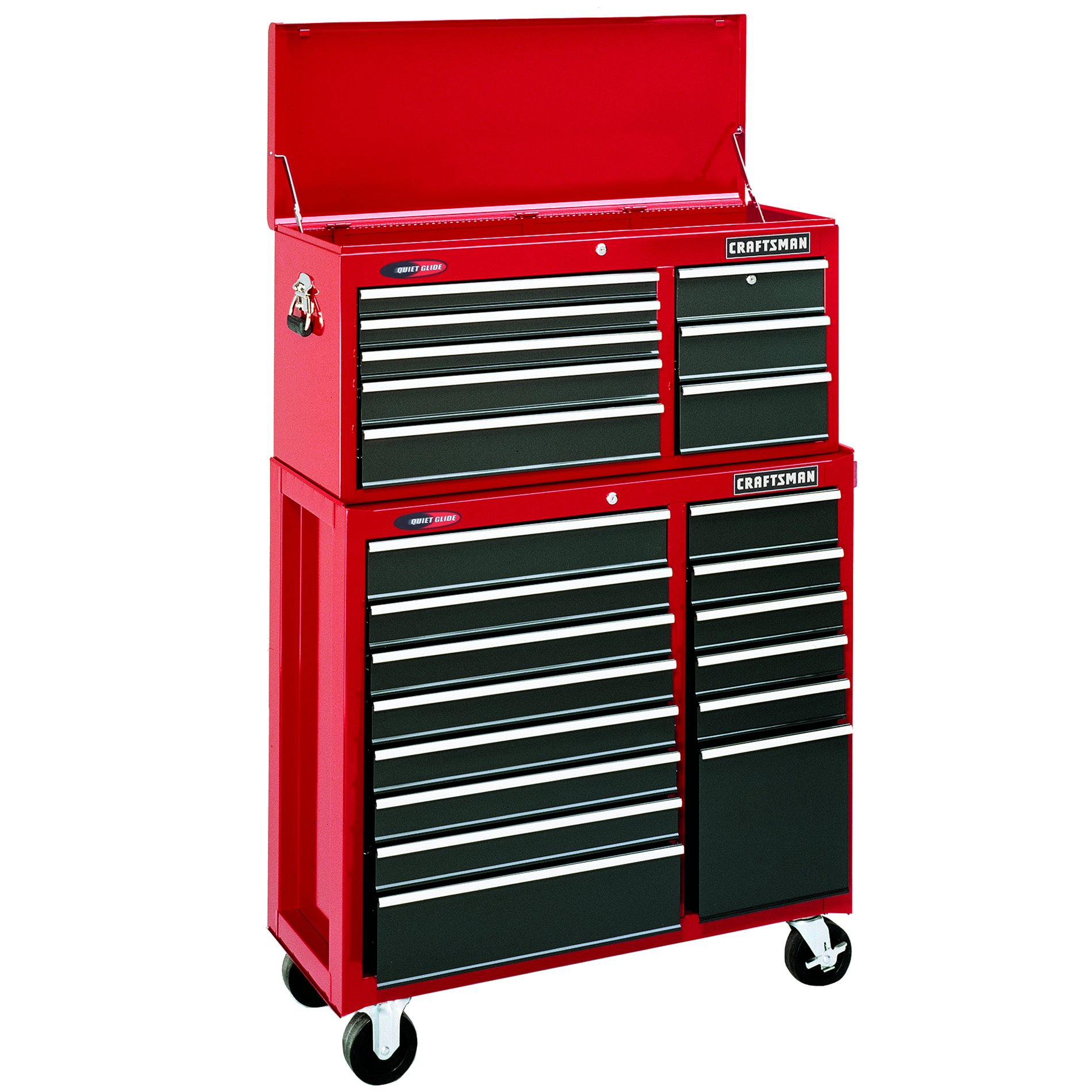 Craftsman-22 Drawer, 40 in. Combo - Red - Each Item Sold Separately
