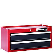 Craftsman 26 in. 2-Drawer Heavy-Duty Ball Bearing Middle Chest - Red/Black at Sears.com