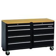 Craftsman 53 in. Wide 8-Drawer Standard Duty Ball-Bearing Workstation - Black at Sears.com