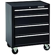 Craftsman 26 in. 4-Drawer Standard Duty Ball Bearing Rolling Cabinet - Black at Kmart.com