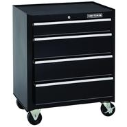 Craftsman 26 in. 4-Drawer Standard Duty Ball Bearing Rolling Cabinet - Black at Sears.com