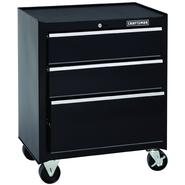 Craftsman 26 in. Wide 3-Drawer Standard Duty Ball-Bearing Rolling Cabinet - Black at Sears.com