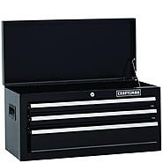 Craftsman 26 in. Wide 3-Drawer Standard Duty Ball-Bearing Top Chest - Black at Craftsman.com