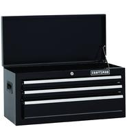 Craftsman 26 in. Wide 3-Drawer Standard Duty Ball-Bearing Top Chest - Black at Kmart.com