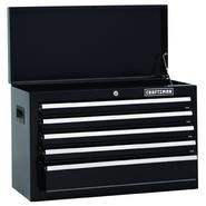 Craftsman 26 in. Wide 5-Drawer Standard Duty Ball-Bearing Top Chest - Black at Sears.com
