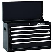 Craftsman 26 in. Wide 5-Drawer Standard Duty Ball-Bearing Top Chest - Black at Craftsman.com