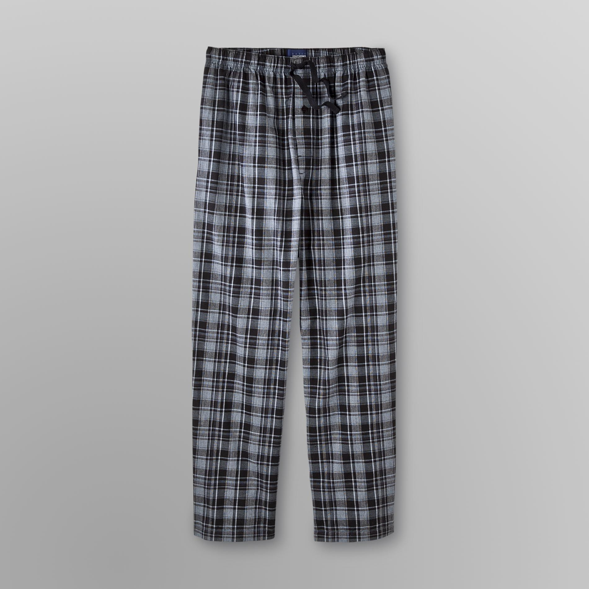Men's Big & Tall Poplin Pajama Pants - Plaid