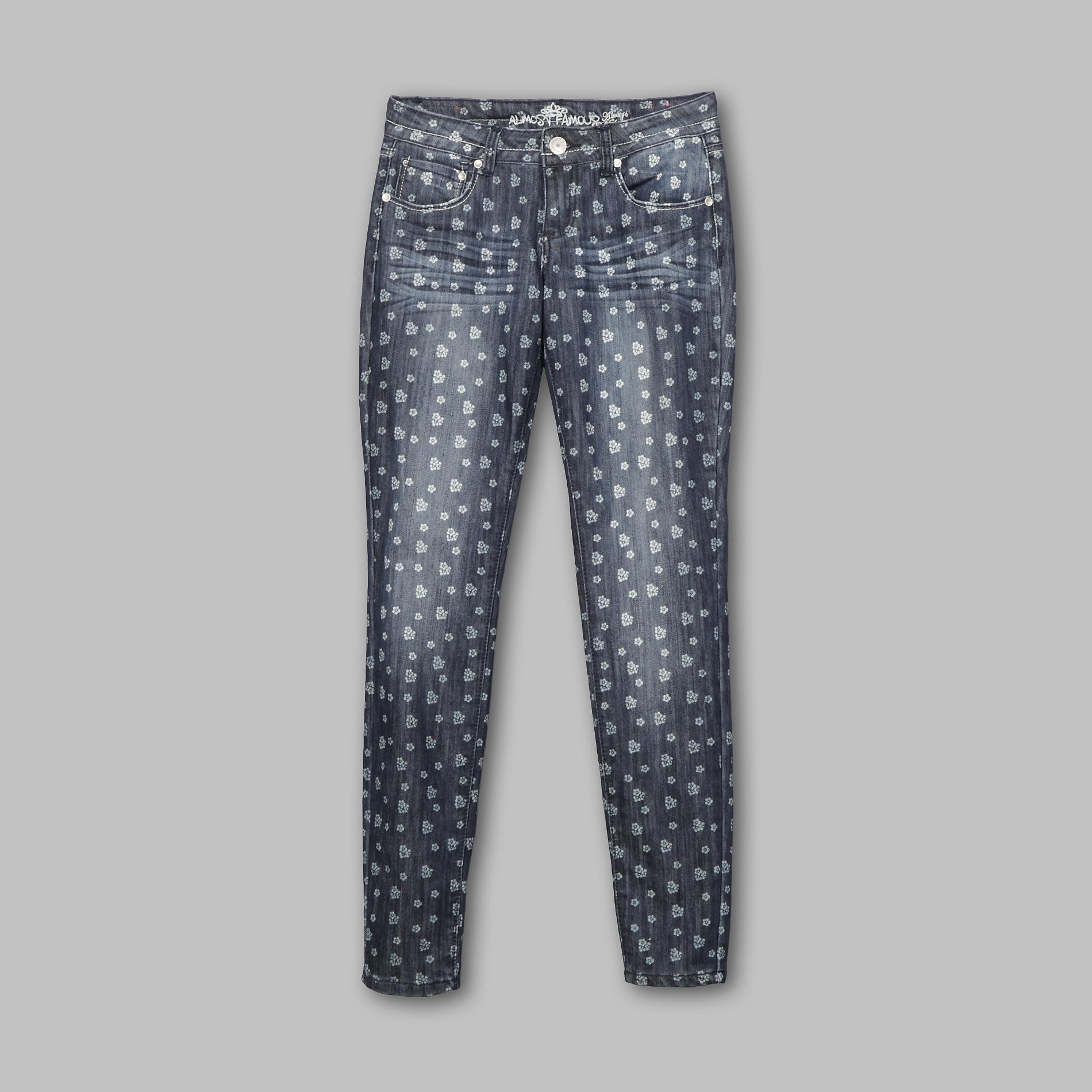 Almost Famous Junior's Skinny Jeans - Floral Print at Sears.com