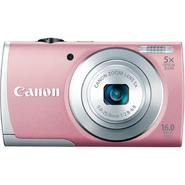 Canon 16 Megapixel PowerShot ELPH 115 IS Digital Camera - Pink & Digital Picture Frame Bundle at Kmart.com
