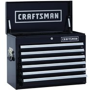 Craftsman 26 in. Wide 6 Drawer Heavy Duty Top Chest, Black at Sears.com