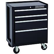 Craftsman 26.5 in. Wide 4 Drawer Wide Bottom Chest, Black at Kmart.com