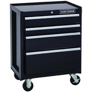 Craftsman 26.5 in. Wide 4 Drawer Wide Bottom Chest, Black at Sears.com