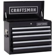 Craftsman 26 in. Wide 5 Drawer Heavy Duty Top Chest, Black at Kmart.com