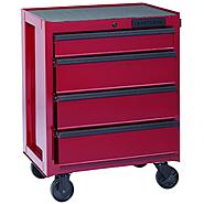 "Craftsman 26.5"" Wide 4 Drawer Bottom Chest - Burgundy (Limited Edition) at Craftsman.com"