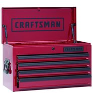 "Craftsman 26"" Wide 4-Drawer Top Chest - Burgundy (Limited Edition) at Craftsman.com"